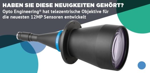 Telezentrische Objektive für 12MP-Sensoren von Opto Engineering