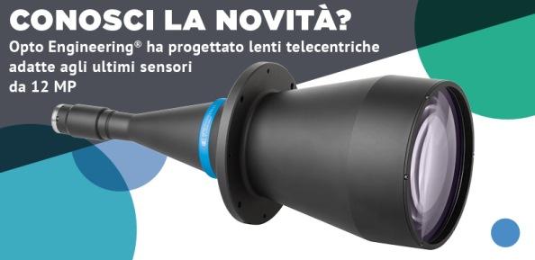 """Lenti telecentriche per telecamere 12MP da 1.1"""""""