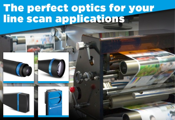 Perfect optics for your line scan applications